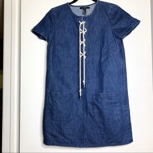 Forever 21 denim nautical style dress Sz Small